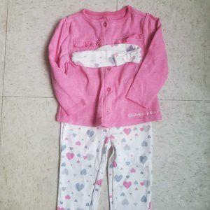 Calvin Klein Toddler Girls Two Piece Set Size 18 M